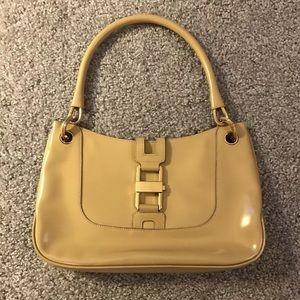 Gucci Leather Buckle Tan Small Hobo Handbag